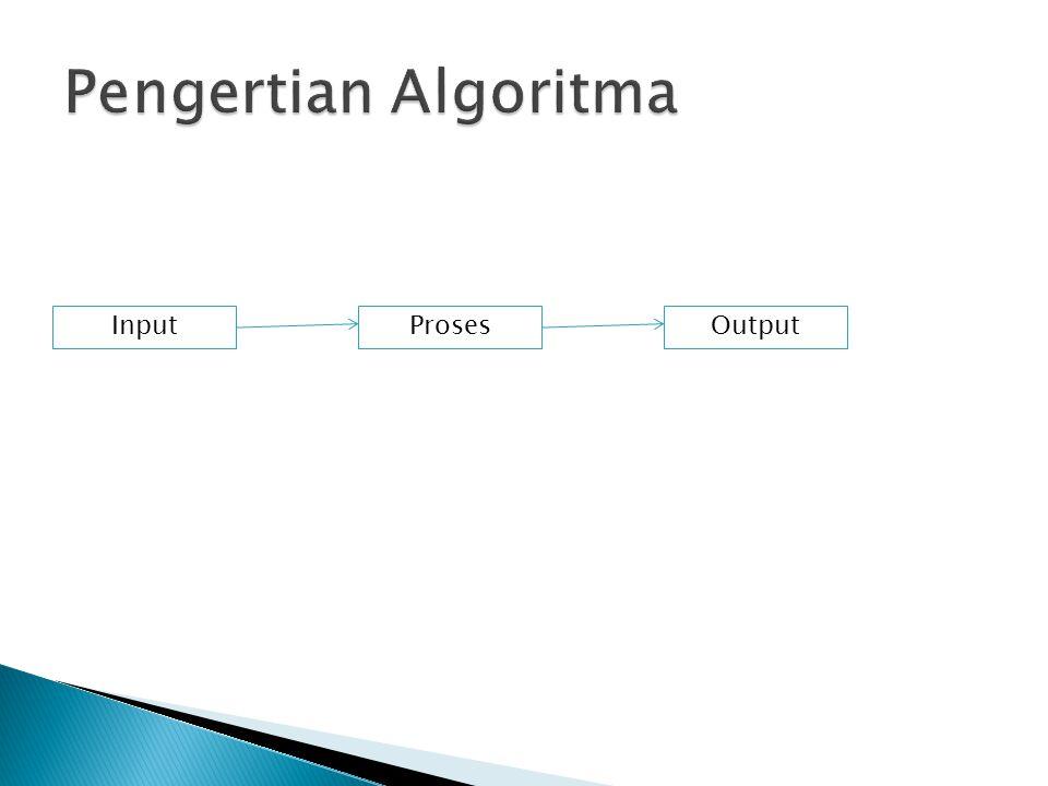 Pengertian Algoritma Input Proses Output