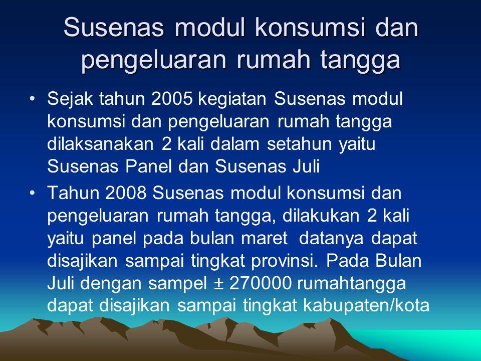 Susenas modul konsumsi dan pengeluaran rumah tangga