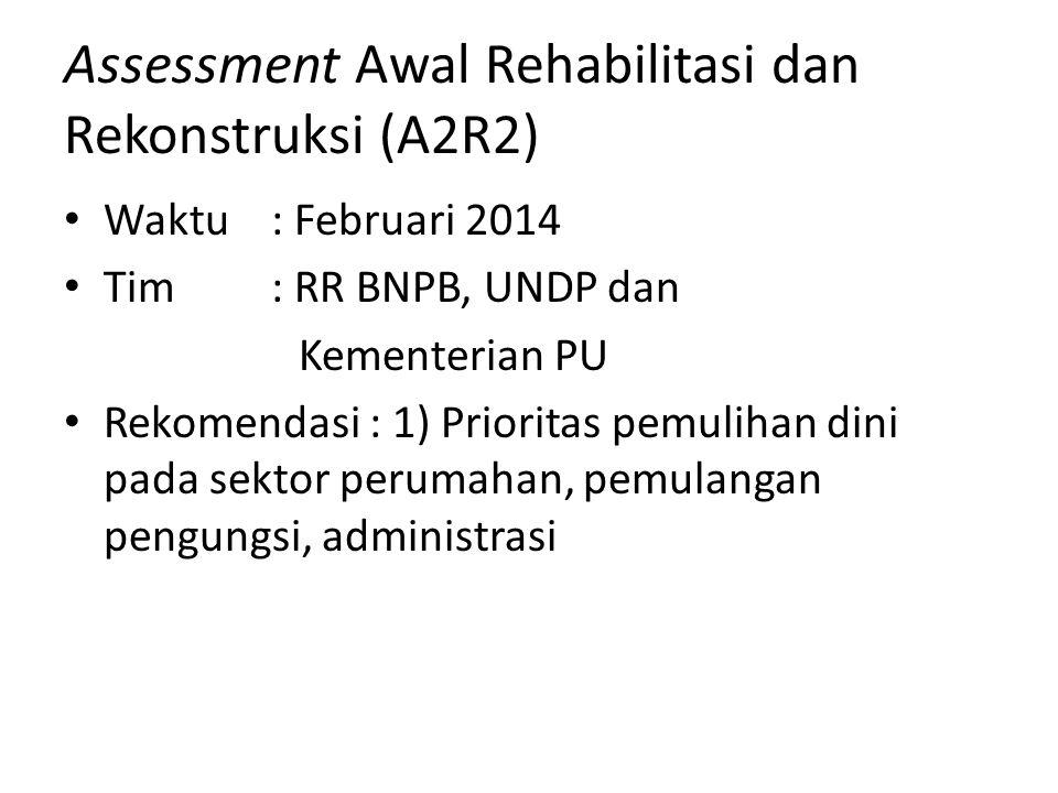 Assessment Awal Rehabilitasi dan Rekonstruksi (A2R2)
