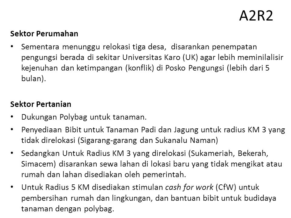 A2R2 Sektor Perumahan.