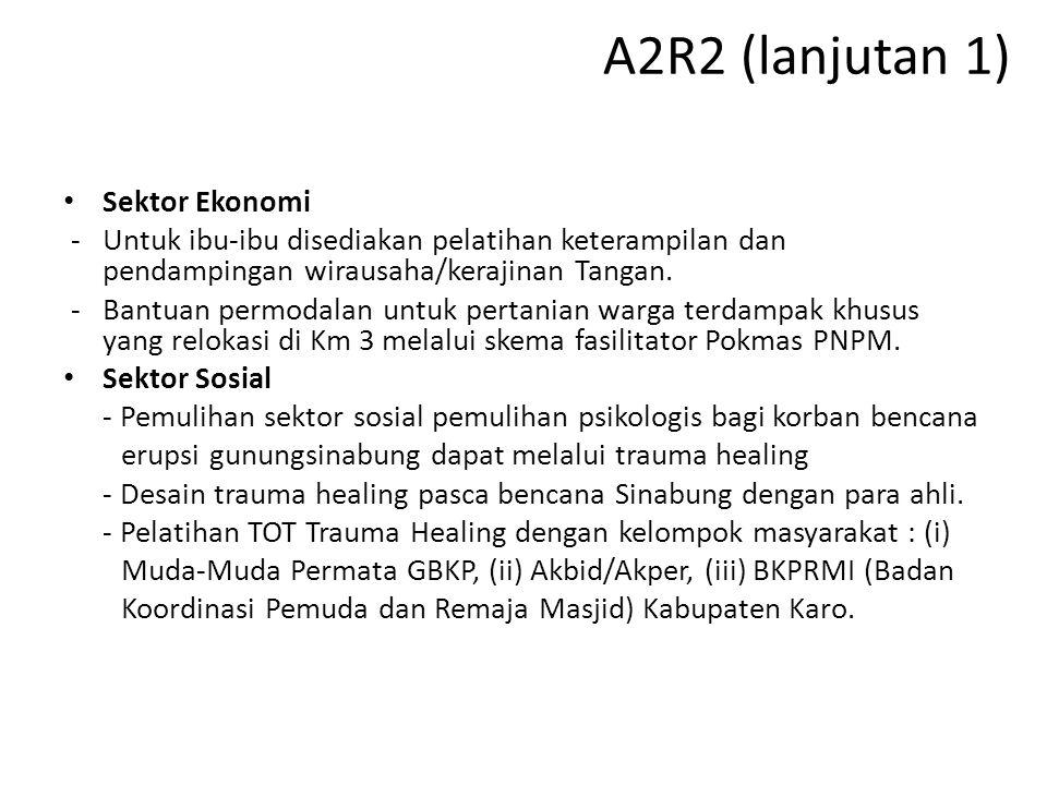 A2R2 (lanjutan 1) Sektor Ekonomi