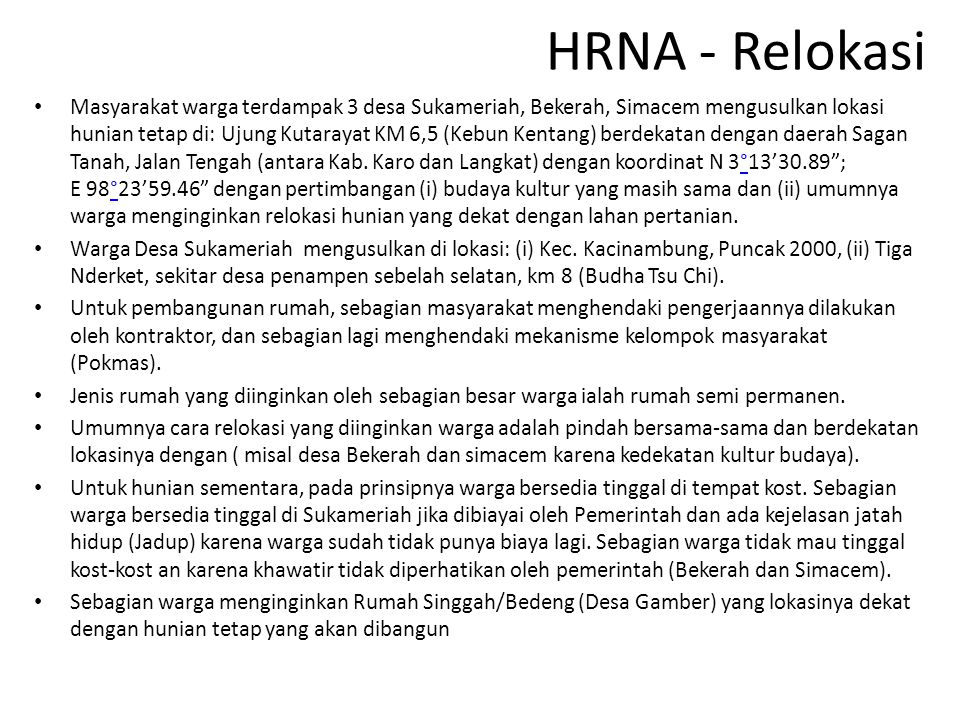HRNA - Relokasi