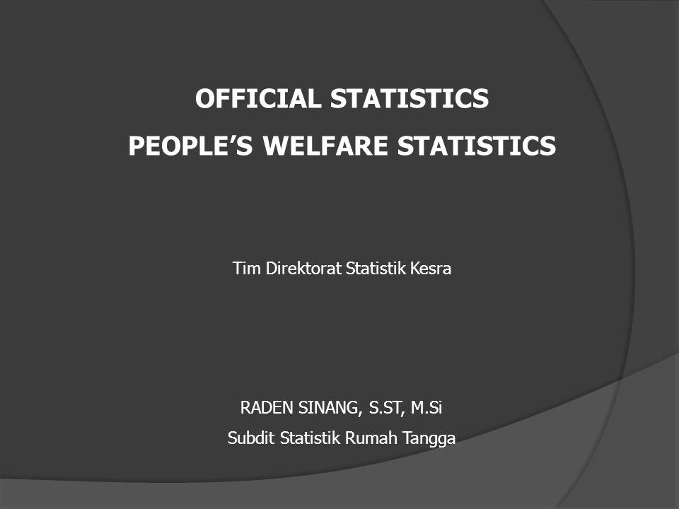 PEOPLE'S WELFARE STATISTICS