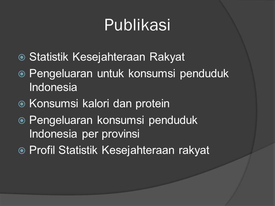Publikasi Statistik Kesejahteraan Rakyat