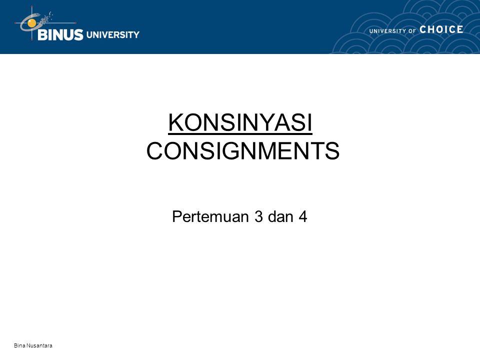 KONSINYASI CONSIGNMENTS