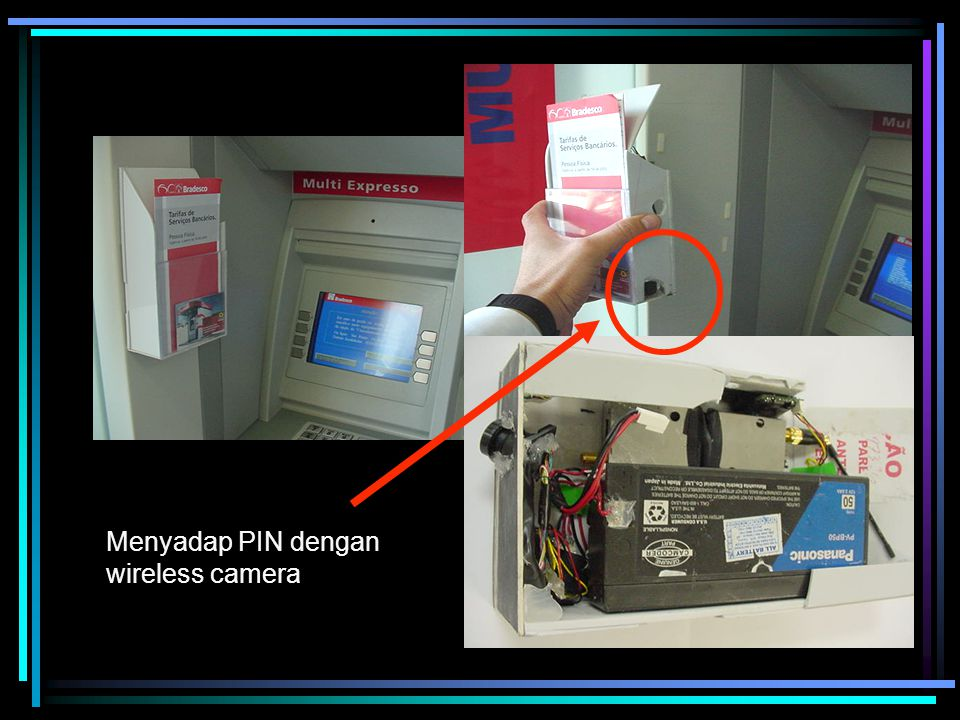 Menyadap PIN dengan wireless camera
