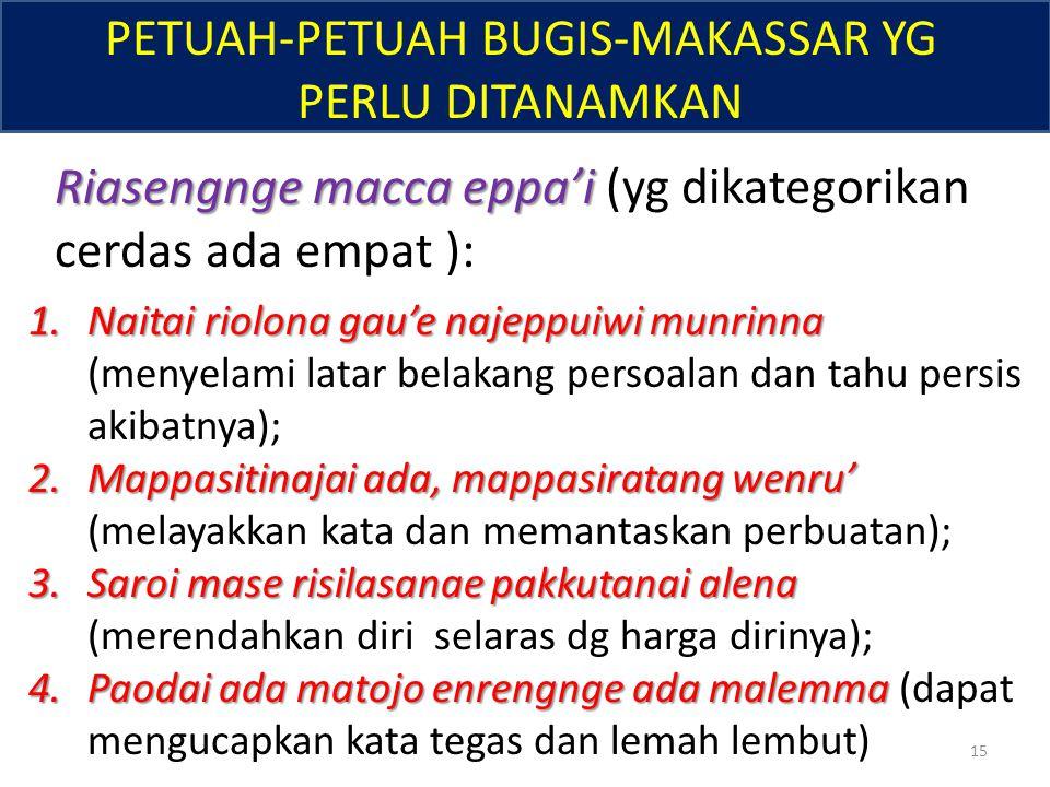 PETUAH-PETUAH BUGIS-MAKASSAR YG PERLU DITANAMKAN