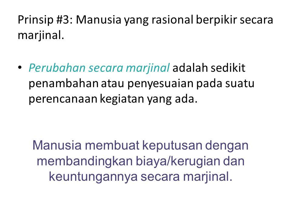 Prinsip #3: Manusia yang rasional berpikir secara marjinal.