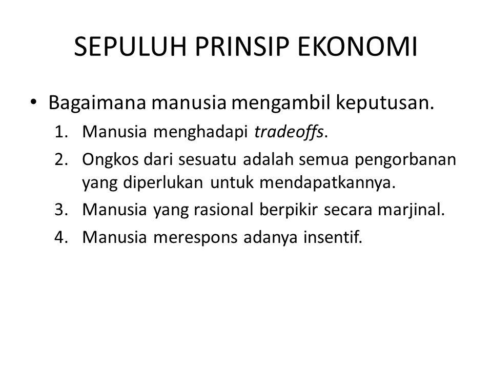 Sepuluh Prinsip Ekonomi