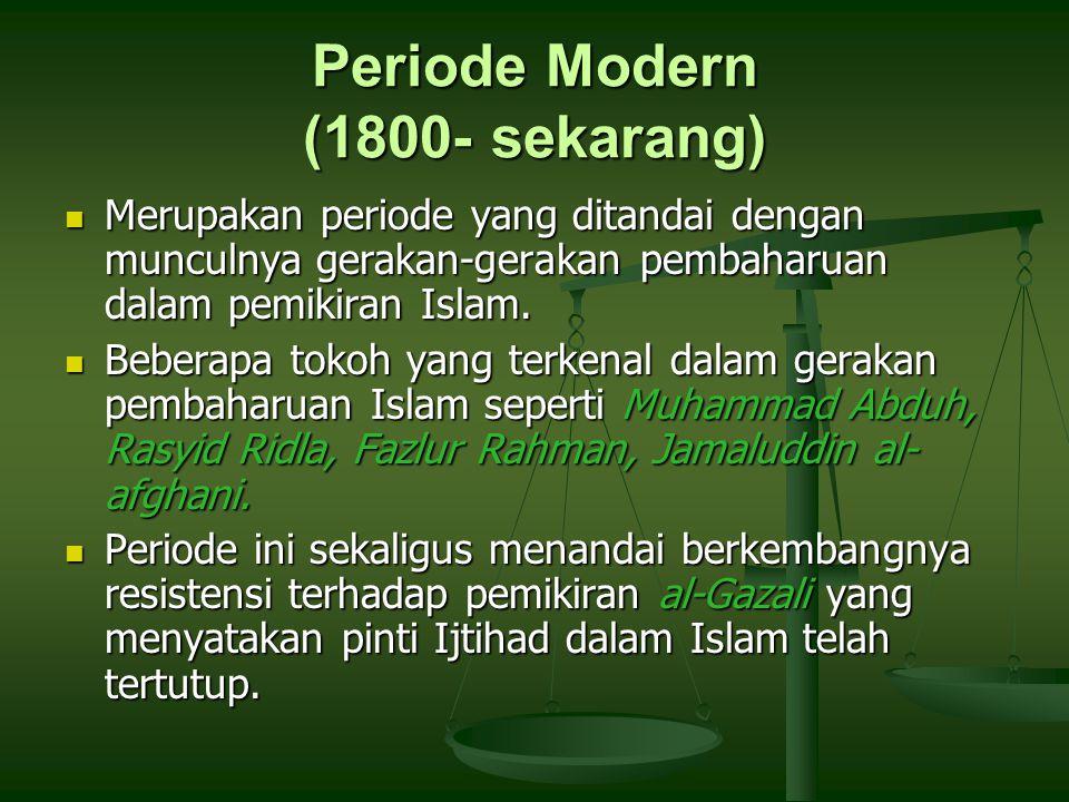Periode Modern (1800- sekarang)