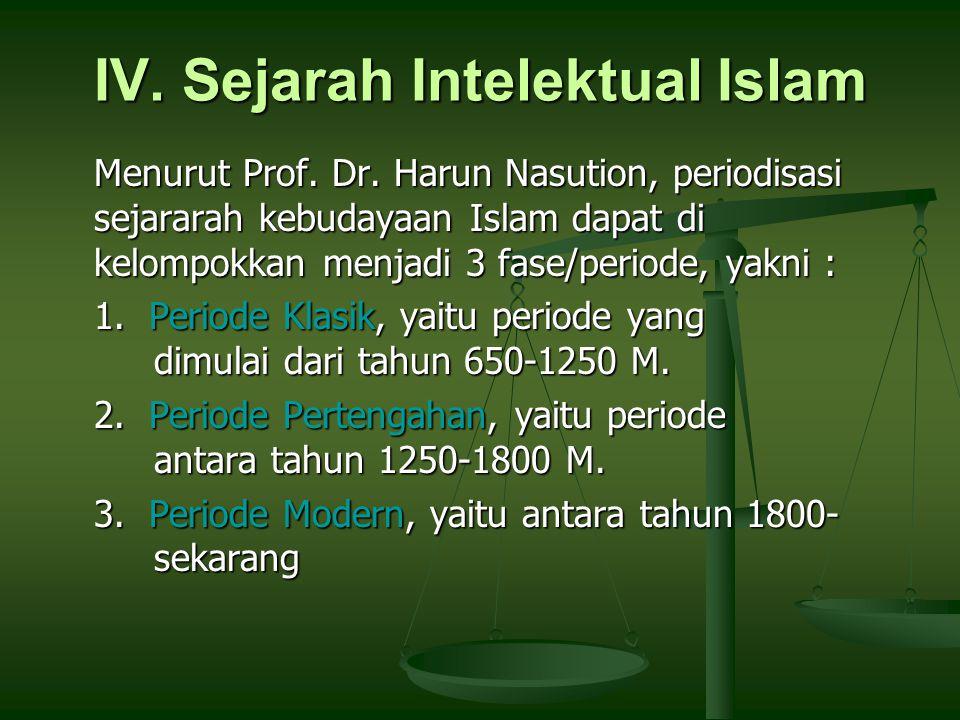 IV. Sejarah Intelektual Islam