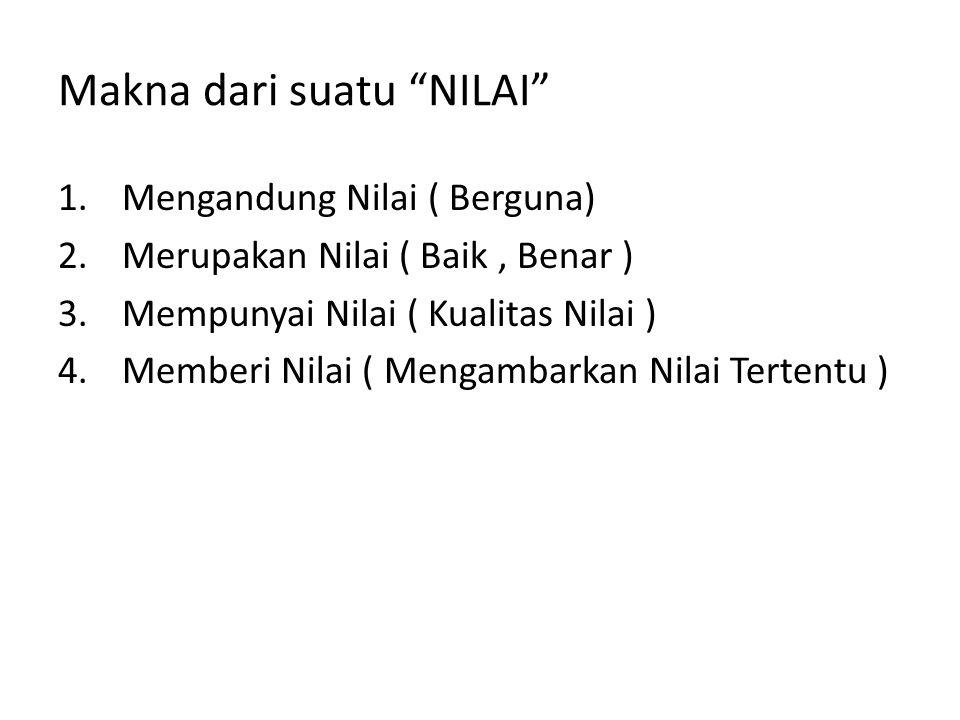 Makna dari suatu NILAI