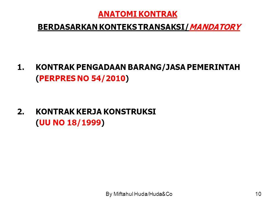 ANATOMI KONTRAK BERDASARKAN KONTEKS TRANSAKSI/MANDATORY