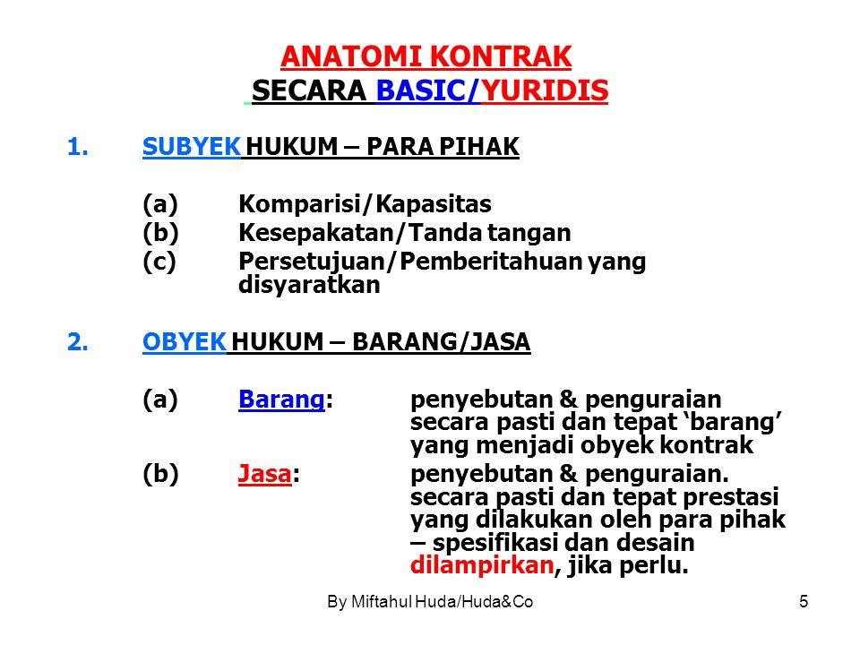 ANATOMI KONTRAK SECARA BASIC/YURIDIS