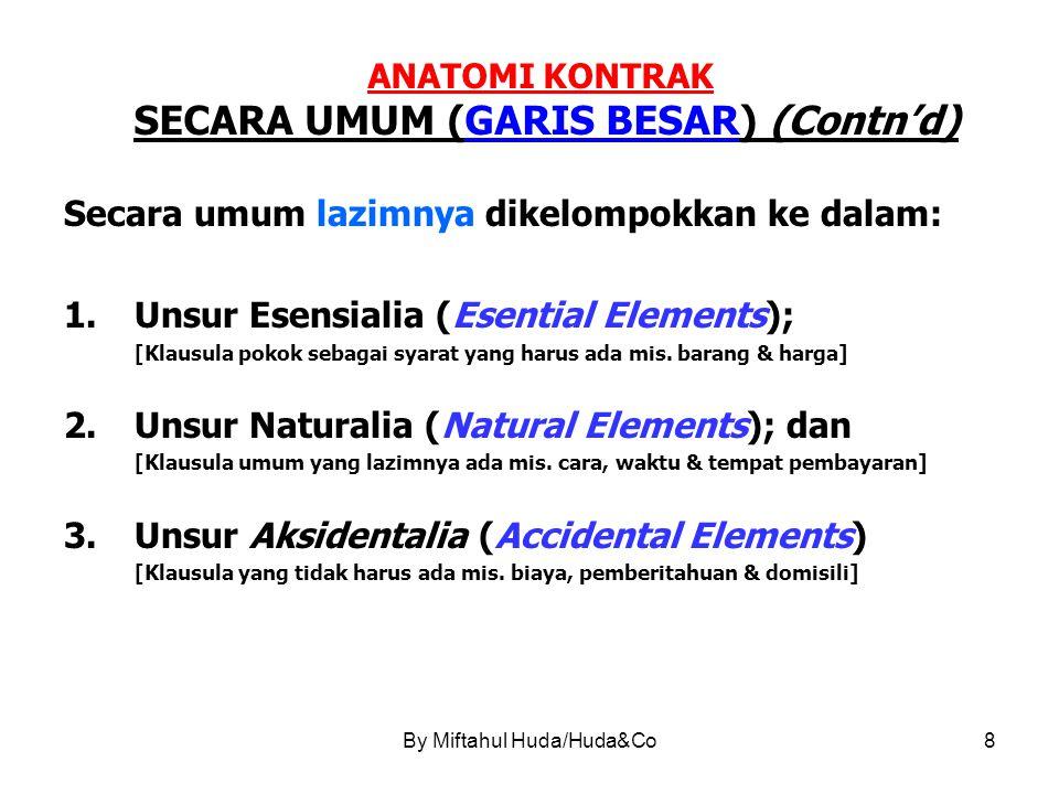 ANATOMI KONTRAK SECARA UMUM (GARIS BESAR) (Contn'd)