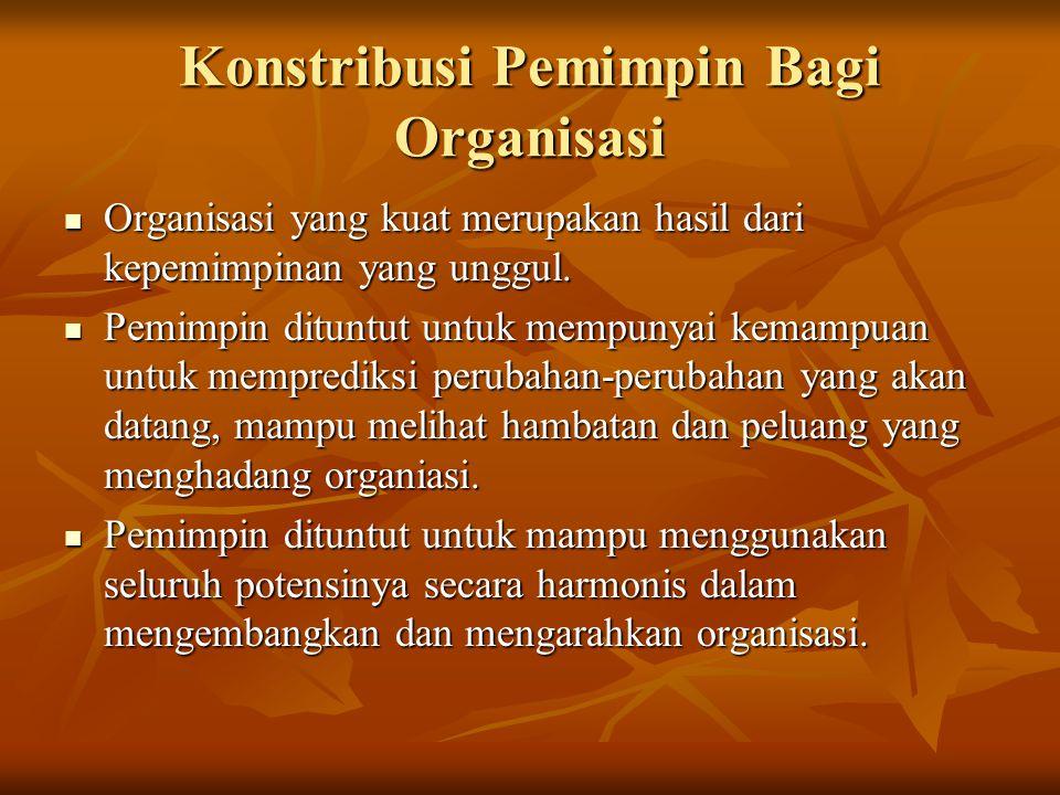 Konstribusi Pemimpin Bagi Organisasi