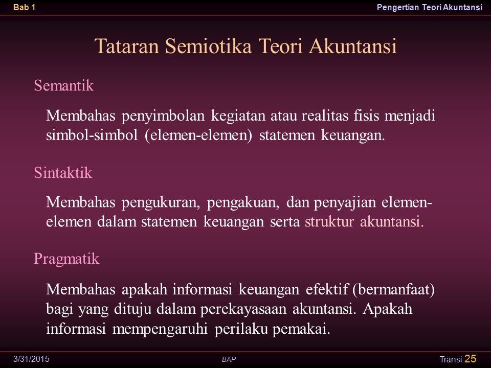 Tataran Semiotika Teori Akuntansi