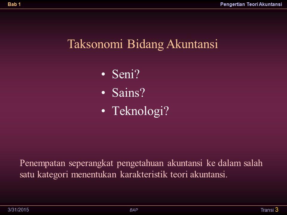 Taksonomi Bidang Akuntansi