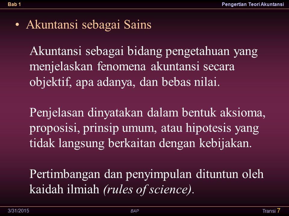 Akuntansi sebagai Sains