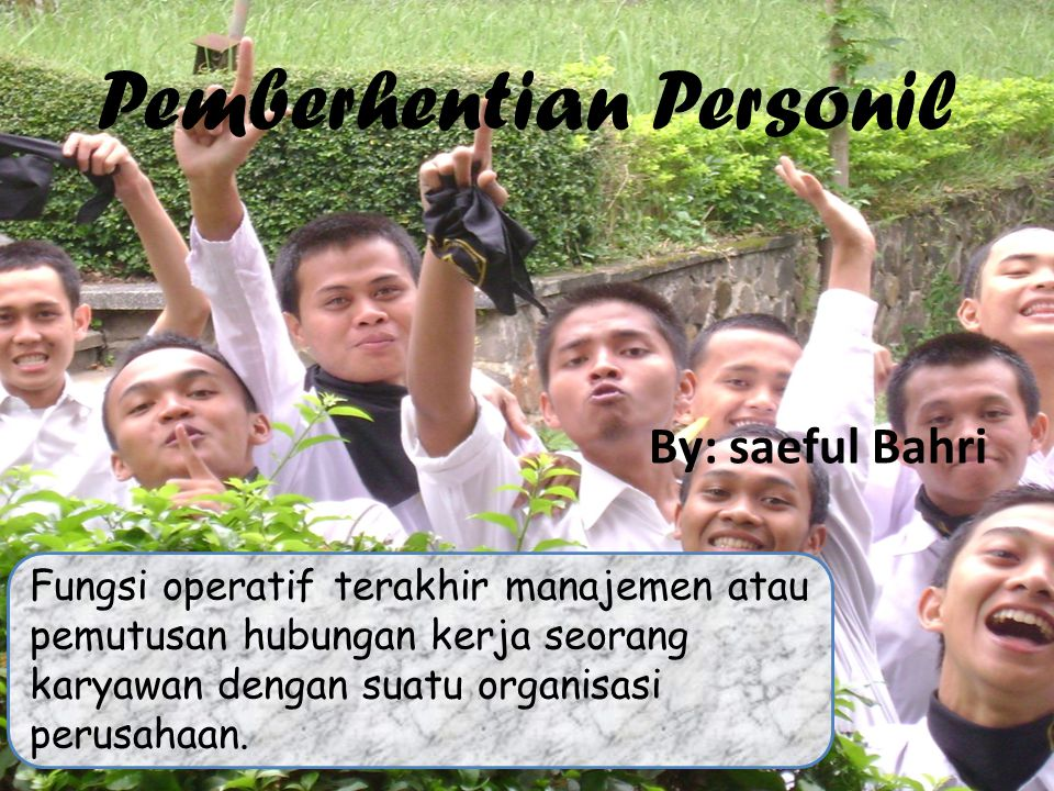 Pemberhentian Personil