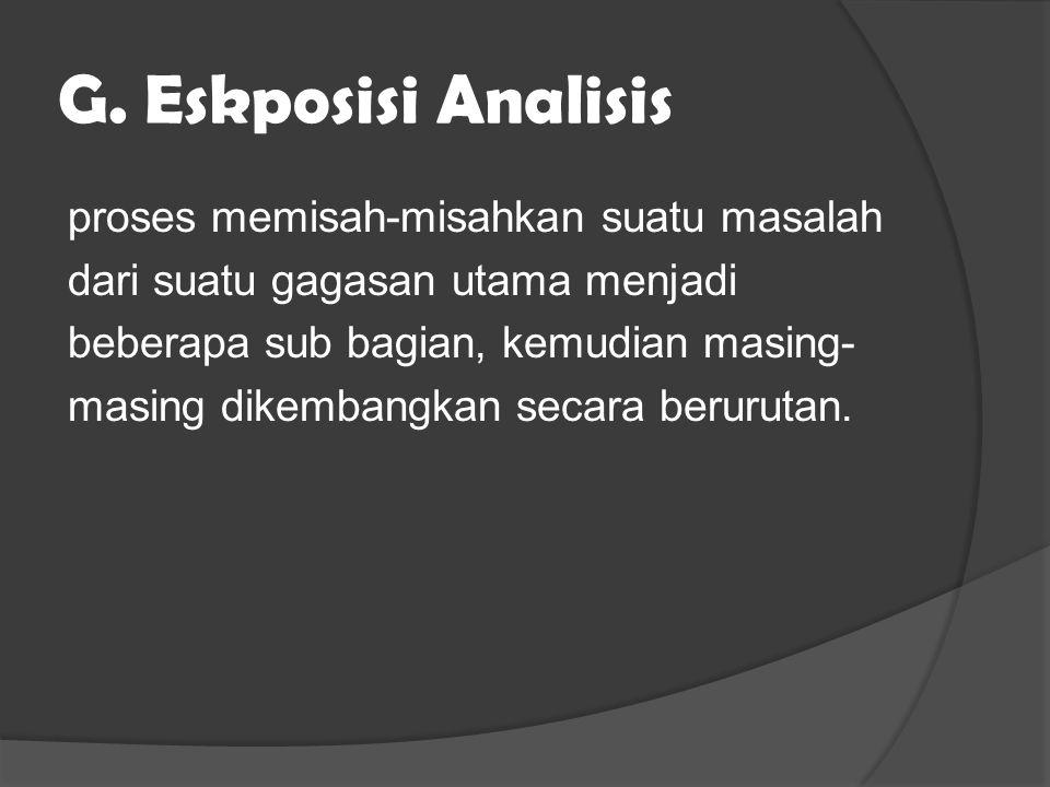 G. Eskposisi Analisis