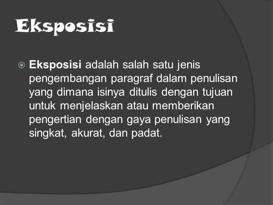 Eksposisi