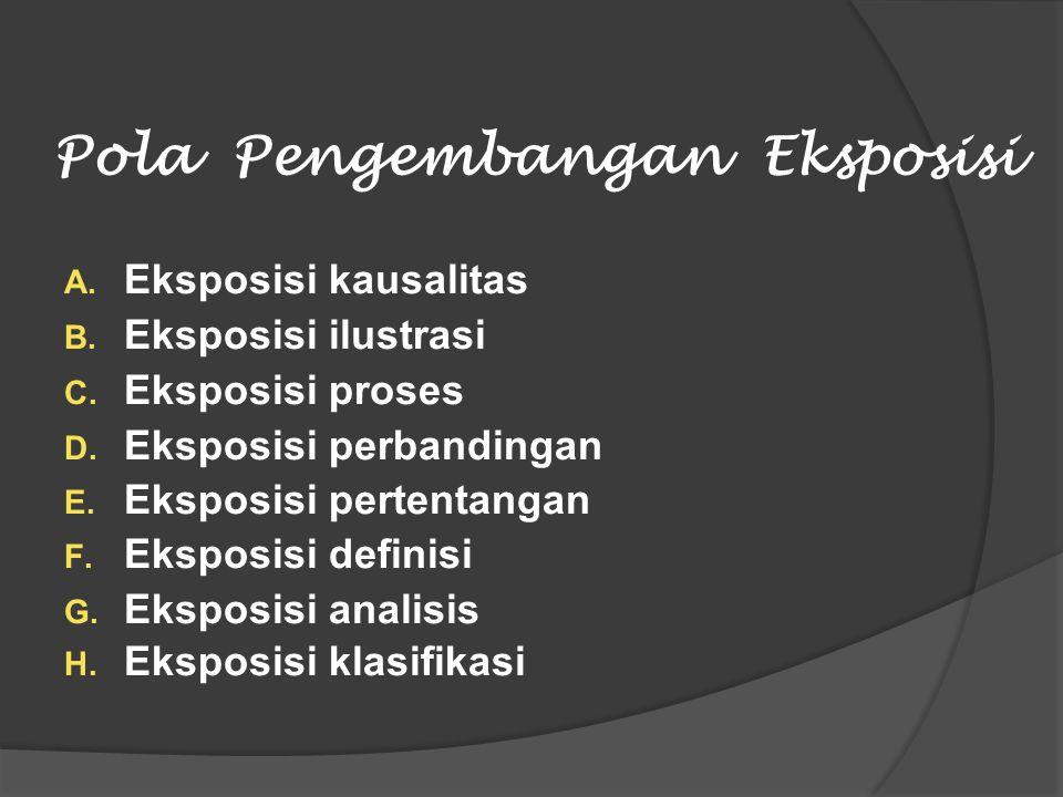 Pola Pengembangan Eksposisi