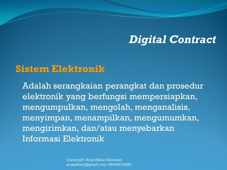 Digital Contract Sistem Elektronik
