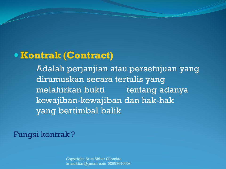 Kontrak (Contract)
