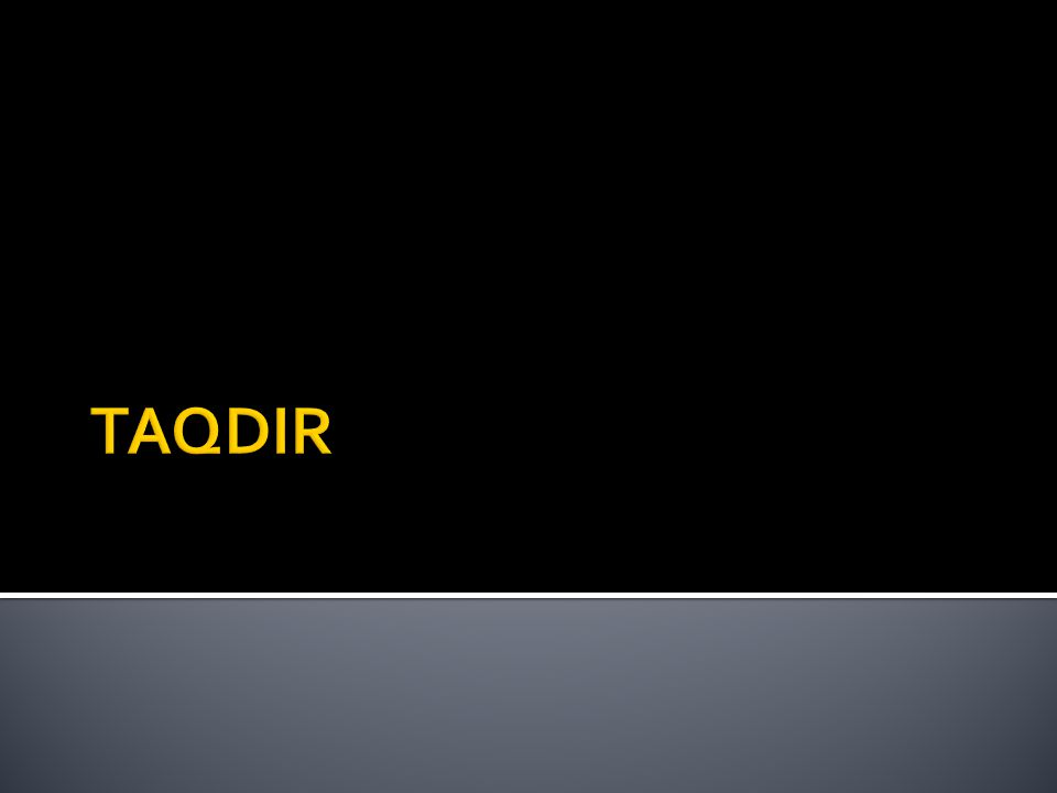 TAQDIR