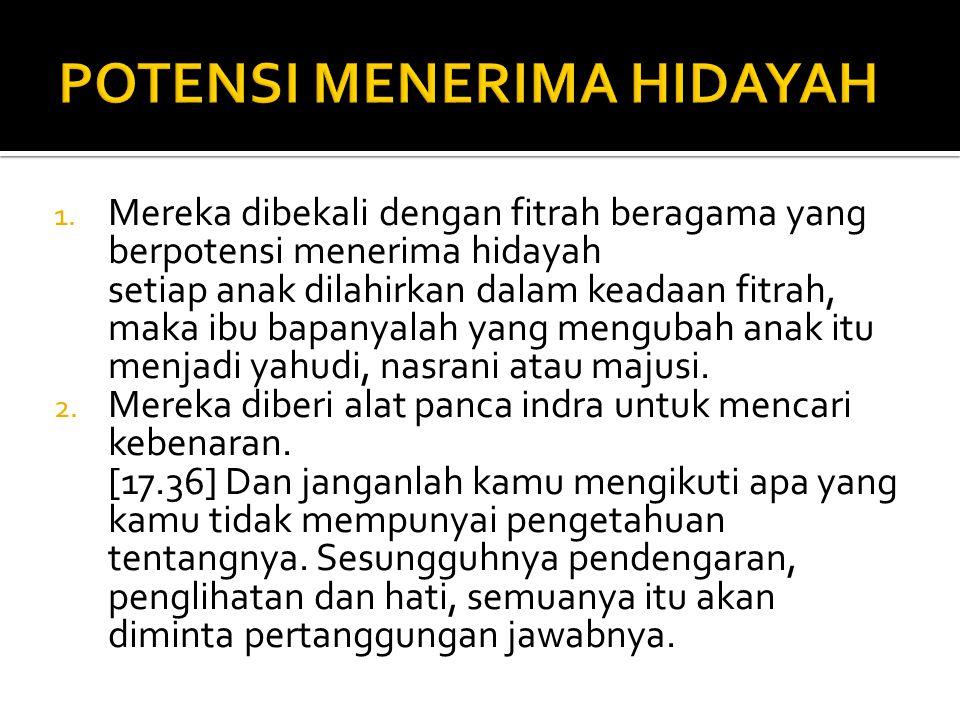 POTENSI MENERIMA HIDAYAH