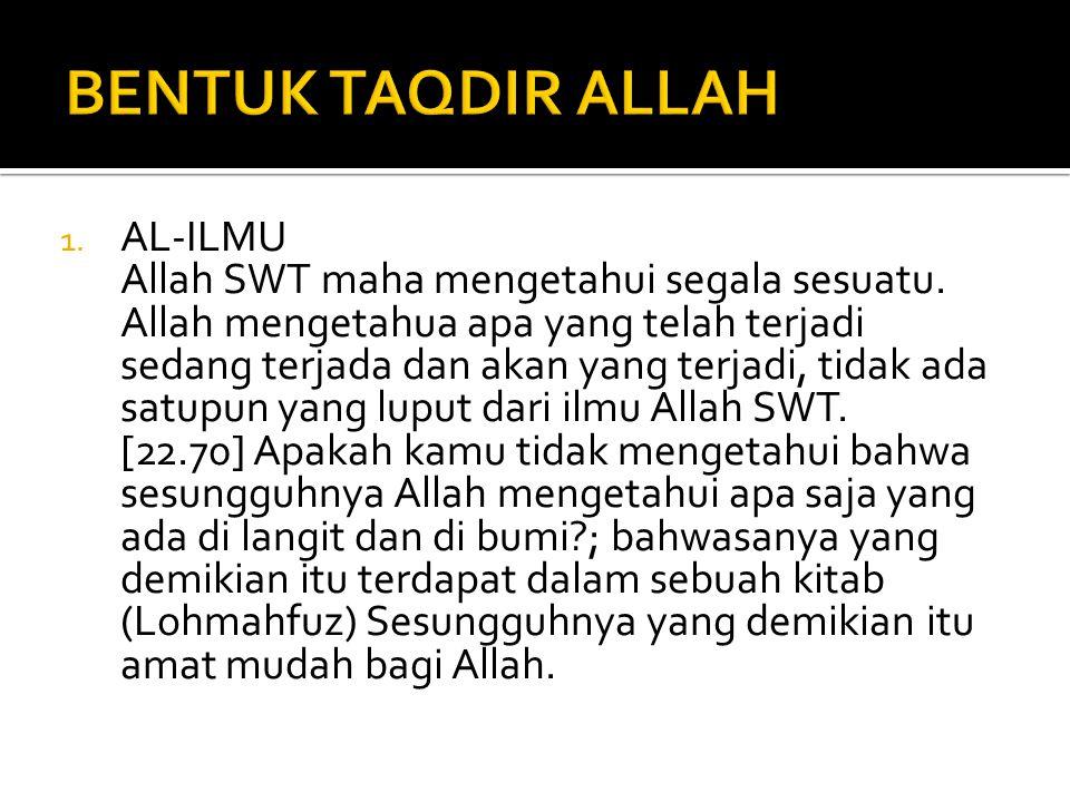 BENTUK TAQDIR ALLAH AL-ILMU