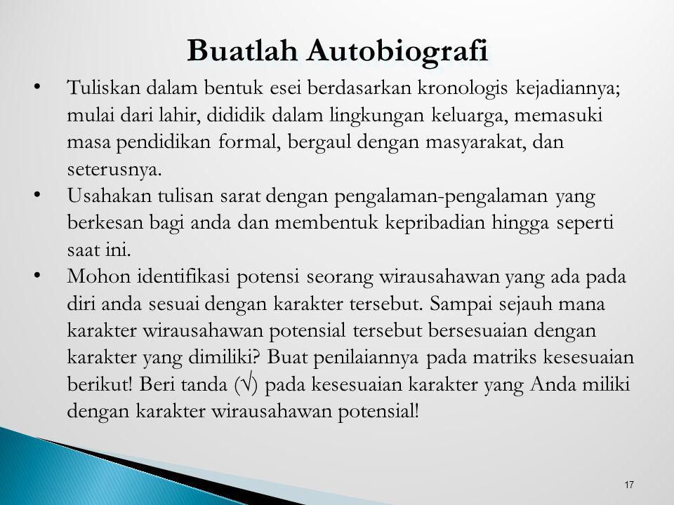 12Pebr 08 Buatlah Autobiografi.