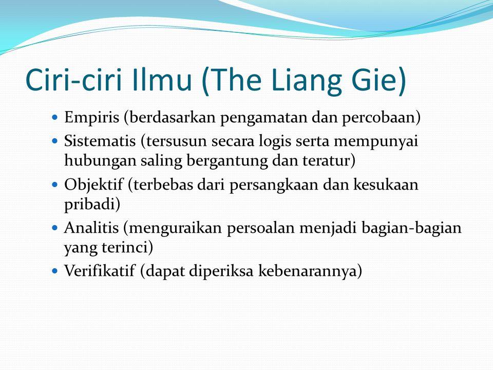 Ciri-ciri Ilmu (The Liang Gie)