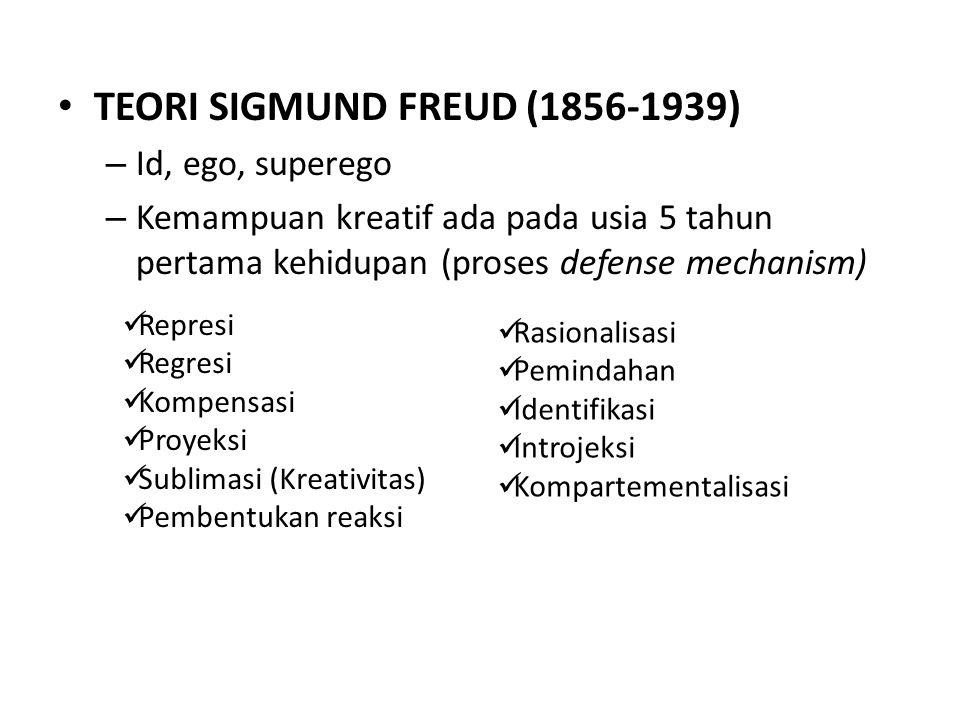 TEORI SIGMUND FREUD (1856-1939)