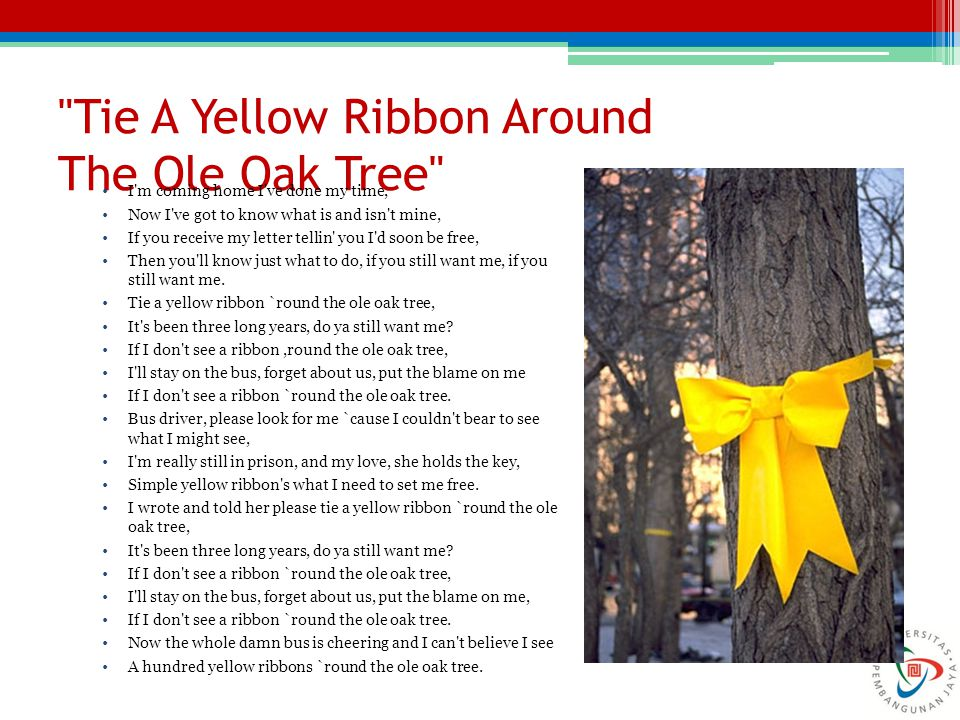 Tie A Yellow Ribbon Around The Ole Oak Tree
