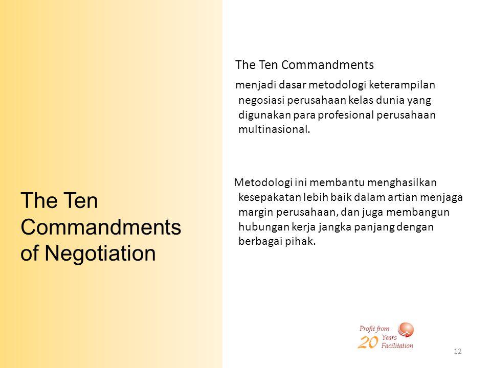 The Ten Commandments of Negotiation