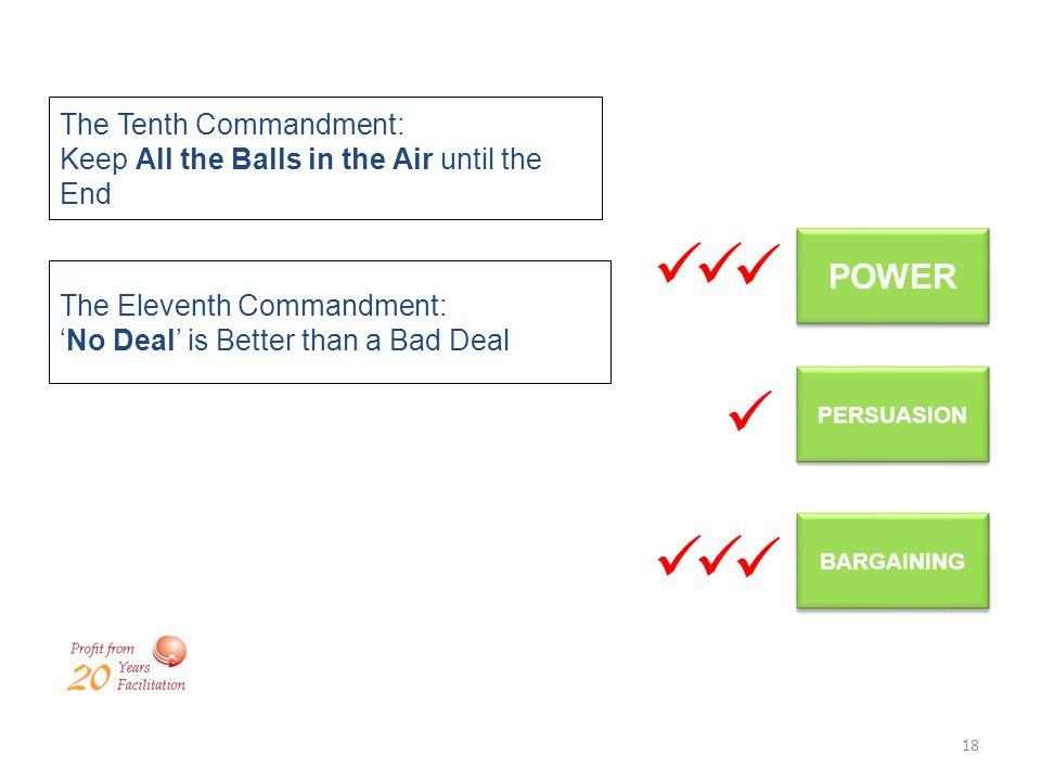 POWER The Tenth Commandment:
