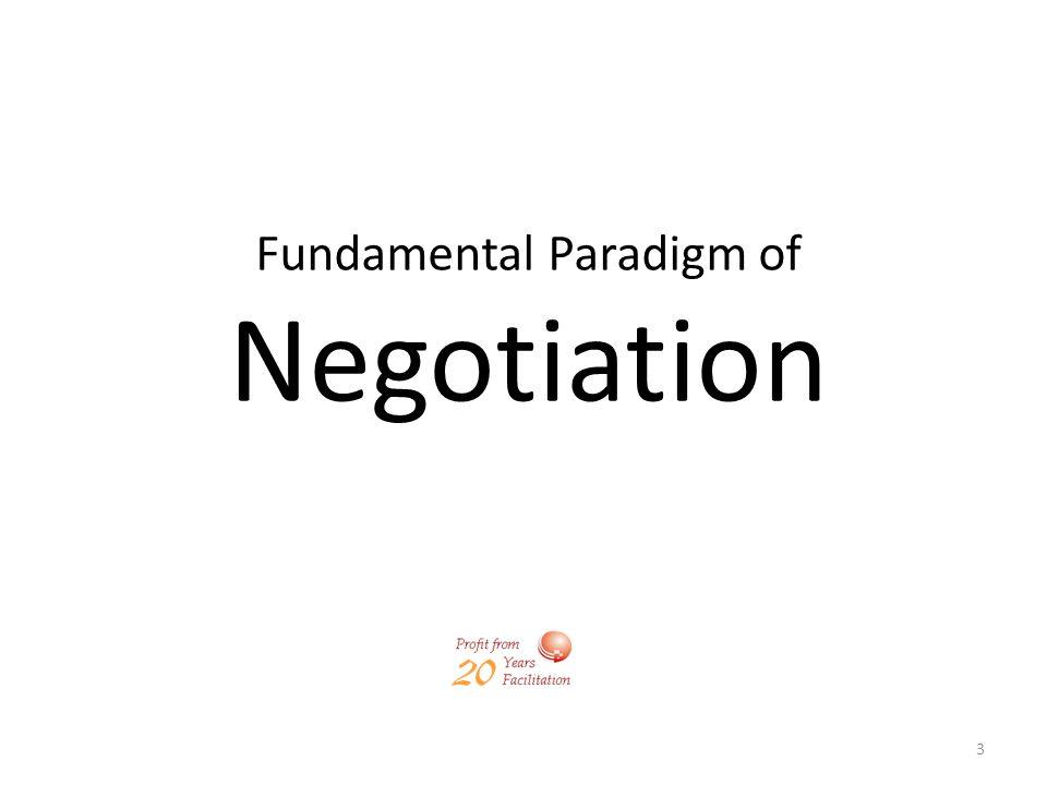 Fundamental Paradigm of Negotiation
