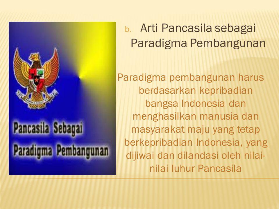 Arti Pancasila sebagai Paradigma Pembangunan