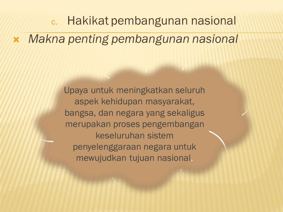 Hakikat pembangunan nasional