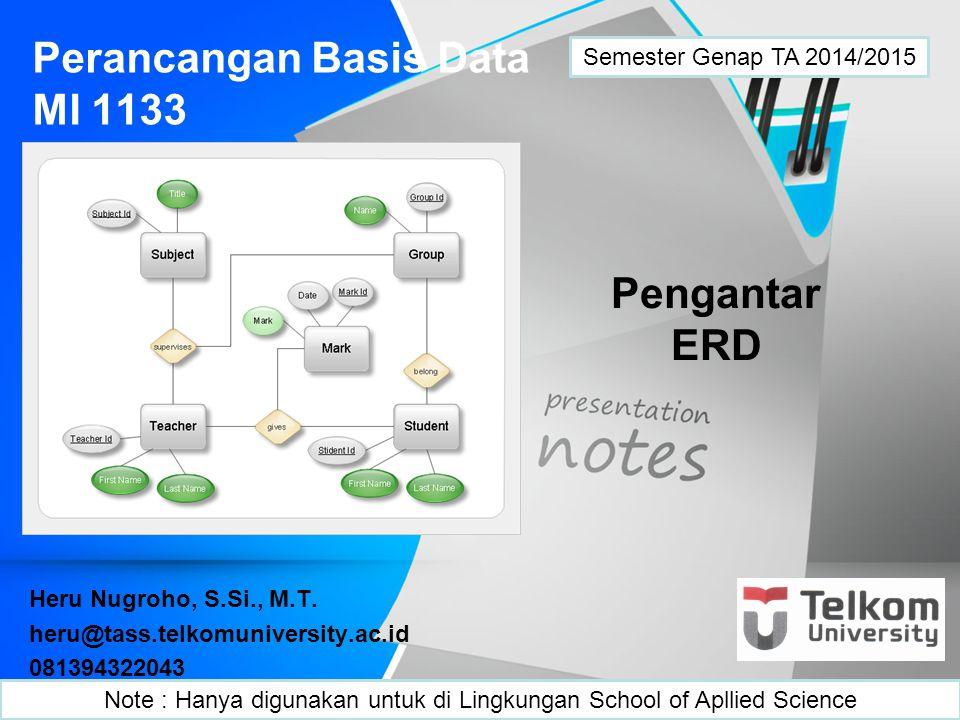 Perancangan Basis Data MI 1133