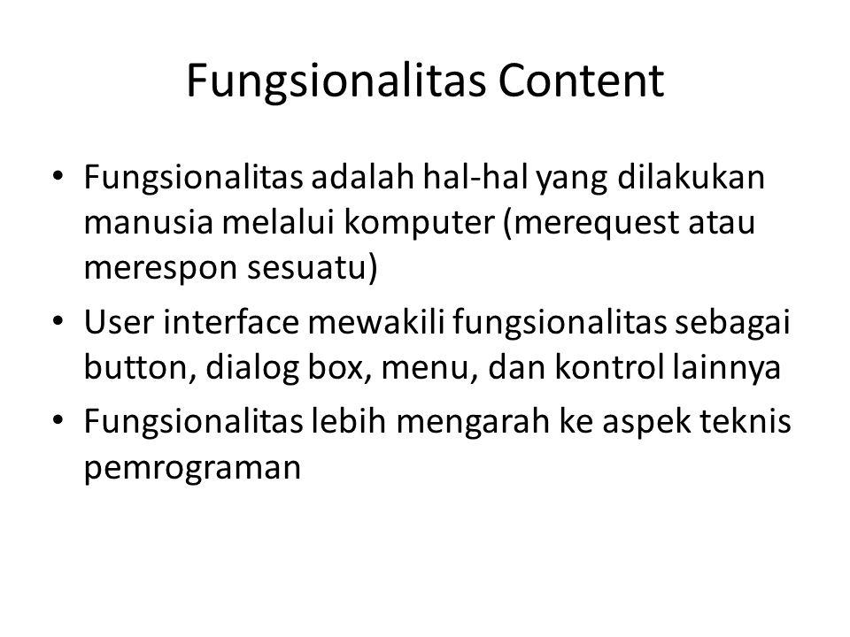 Fungsionalitas Content
