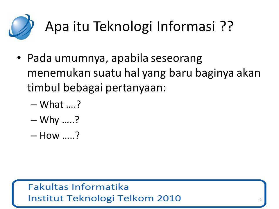 Apa itu Teknologi Informasi