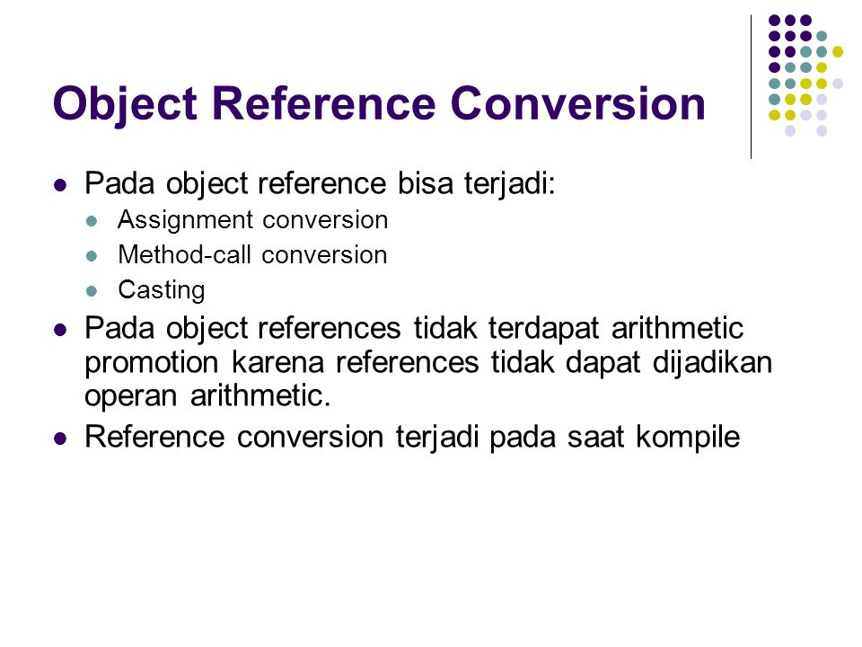 Object Reference Conversion