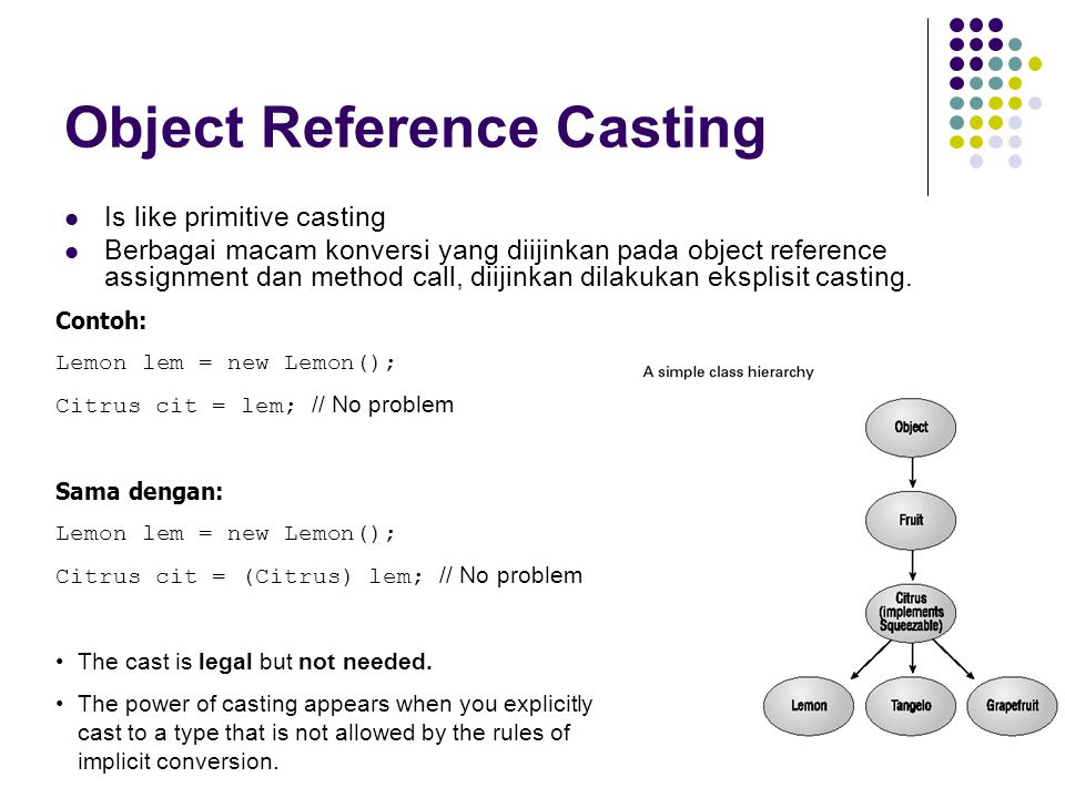 Object Reference Casting