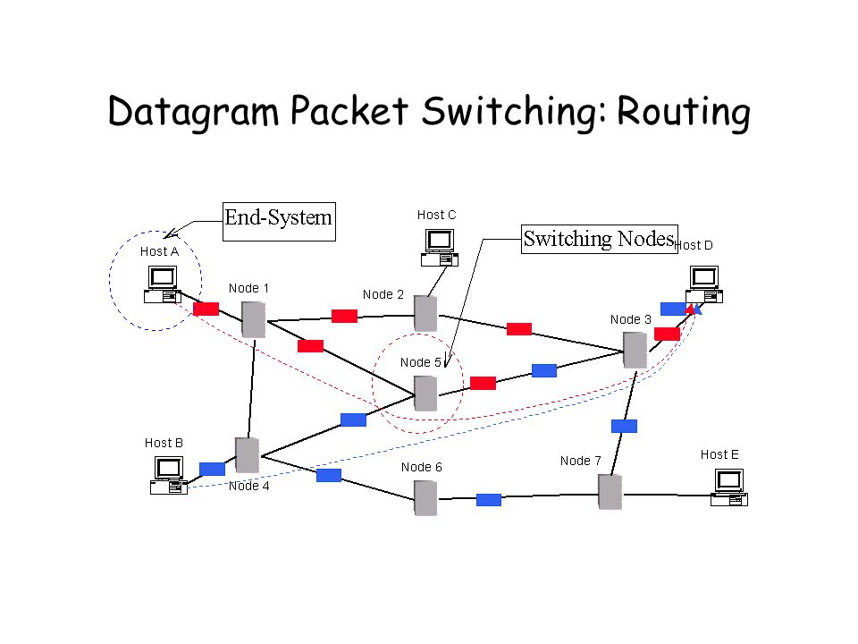 Datagram Packet Switching: Routing