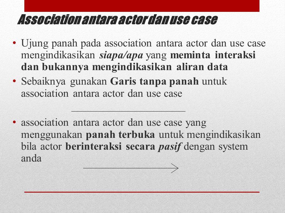 Association antara actor dan use case