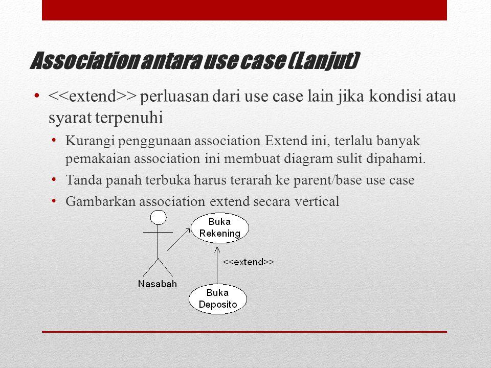 Association antara use case (Lanjut)