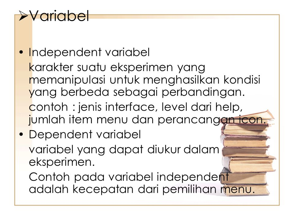 Variabel Independent variabel